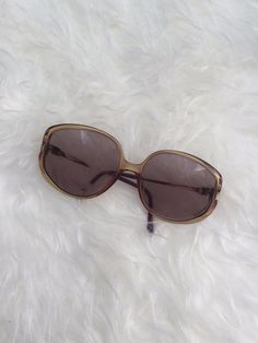 VTG Retro Christian Dior Amber Large Round Coloured Lenses Glasses #Dior #Round