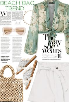 Discover outfit ideas for Beach Bag Trend made with the shoplook outfit maker. How to wear ideas for Butterflies Choker Necklace and X REVOLVE Rhodes Beaded Summer Winter, Summer Fun, Polyvore Dress, Outfit Maker, Vacation Outfits, Casual Chic, Sunnies, Preppy, Fall Outfits