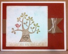 Love card made with Nuts About You Hostess set from Stampin Up
