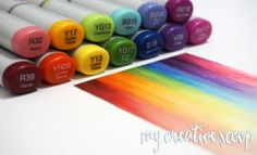 Creating A Background Coloring Rainbow Using Copics