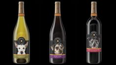 """Chateau La Paws feature shelter dogs from around the country on the labels of the wine bottles to draw attention to their cause. The proceeds of these wines goes to organizations around the country that support """"no kill shelters"""""""