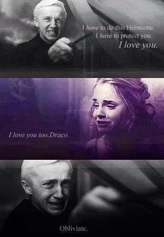 to save hermione and let her go on with ron