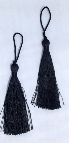 A personal favorite from my Etsy shop https://www.etsy.com/listing/208564034/black-thread-tasselsturkish-hand-made