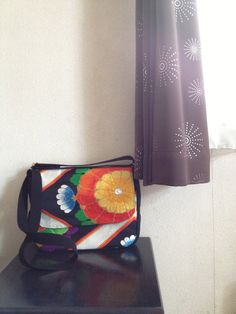 Obi, Kimono, Messenger Bag / BK427 Beautiful Obi Messenger Bag Small Size