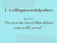 A willingness to help