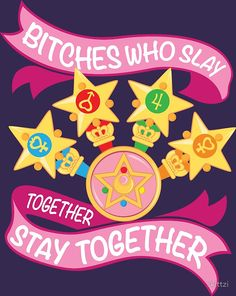 """Slay Together, Stay Together - Sailor Scouts"" by skittzi 