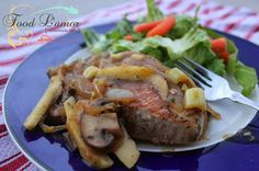 Food L'amor: Herb Pork Chops with Apples, Mushrooms, and Caramelized Onion. Paleo, gluten free, dairy free, healthy, and delicious.