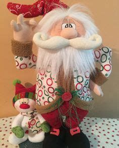 Christmas Makes, Christmas Wood, Winter Christmas, Christmas Crafts, Christmas Ornaments, Santa Decorations, Santa Doll, Christmas Sewing, Homemade Crafts