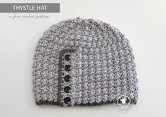 Thystle is a free hat pattern that is rich in style. Combining simple single and treble crochet stitches creates an interesting textured fabric similar to the puff stitch, without all the extra work. For this project, I wanted a light colored yarn to show off the texture, with a contrasting… Read more...