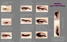 above all i haven't use foundation pact so you can see where is my real brow and where to make the eye shadow . i think my tutorial only fit for Asian people XD . make the eyes looks slim . and bro...