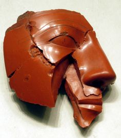 Fragmentary head of a king, made in Egypt, c.1400-1390 BC