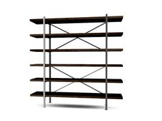 Sara New Dining Shelfs. In metal and dark wood  Found in TSR Category 'Sims 4 End Tables'