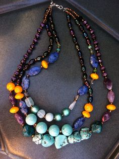 Eclectic Chunky Bead Necklace on Etsy
