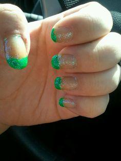 My St Patricks day nails St Patricks Day Nails, Pretty Nail Art, Beauty Makeup, Nail Designs, Make Up, Nail Stuff, Fancy, Fingers, Nail Desighns