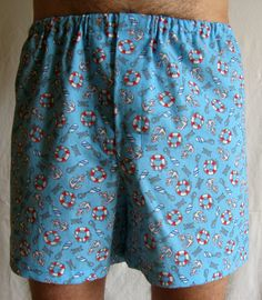 Nautical Boxer Shorts.  Extremely comfortable by SewnWithPassion