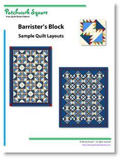 Barrister's Block - free quilt block pattern