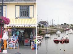Ice cream shop & boats in Courtown Harbour (Wexford, Ireland) // The Art of Exploring Wexford Town, Wexford Ireland, England Ireland, Seaside Towns, Exploring, Boats, Highlights, Nostalgia, Ice Cream
