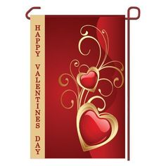 """Valentines Day Garden Flag Vinyl 12.5"""" x 18"""" by Outdoor Accents. $13.99. Valentines Day Seasonal Vinyl Garden Flag 12.5"""" x 18"""" (Hardware Sold Seperately). Fits garden flag stand or garden size flag arbor. Outdoor Accents Garden Flags artwork is full color digitally printed onto heavy duty durable vinyl material for long lasting use.. This Seasonal Garden Flag will liven up your outdoor decor and put your guests in the Holiday spirit!. Hardware Sold Seperately. Valentines... Valentine Day Crafts, Valentines Day Decorations, Yard Flags, Garden Flag Stand, Outdoor Gardens, Outdoor Decor, Outdoor Living, Artwork, House Flags"""