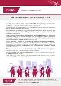 7 best hbjw services images on pinterest law abstract and blame a new voi regime started in victoria on 9 november 2015 this regime aligns all conveyancing transactions in victoria with the voi requirements for solutioingenieria Images