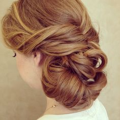 Wedding hair .. Combined with this