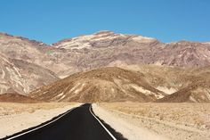 Lonely road in Death Valley National Park. Death Valley National Park, Lonely, Mount Everest, National Parks, Mountains, World, Places, Nature, Travel