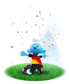 Comemore os objetivos da sua equipe com os Smurfs de futebol!