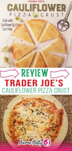 Trader Joe's Cauliflower Pizza Crust is a good tasting and healthy alternative to regular pizza crust. This product is also gluten free. Cauliflower is quickly becoming the new kale. For a long time now, riced cauliflower in the fresh produce area is one of the most frequently sold out items in the store. Riced cauliflower can be used in a multitude of ways. One way in which I've seen it used is in cauliflower pizza. | @becomebetty #honesttraderjoesreviews #traderjoesitalian #traderjoespizza Vegetarian Shopping List, Trader Joes Vegetarian, Shopping Lists, Riced Cauliflower, Cauliflower Crust Pizza, Easy Freezer Meals, Easy Family Dinners, Best Trader Joes Products