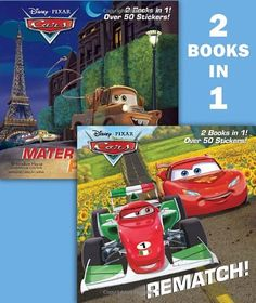 Rematch!/Mater in Paris (Disney/Pixar Cars) (Deluxe Pictureback) @ niftywarehouse.com #NiftyWarehouse #Disney #DisneyMovies #Animated #Film #DisneyFilms #DisneyCartoons #Kids #Cartoons