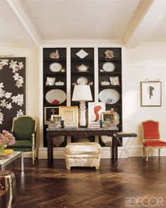 Living Rooms with Colorful Accents - ELLE DECOR