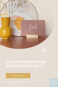 We hebben 40+ geboortekaartjes met een minimalistisch ontwerp die je zelf gemakkelijk in onze kaarteditor kunt aanpassen naar eigen smaak.