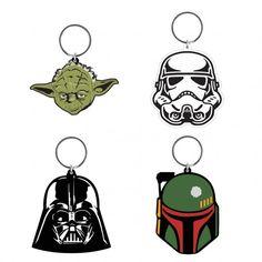 Choisissez votre camp ou votre personnage préféré parmi nos 8 différents porte-clés en caoutchouc de la saga Star Wars.