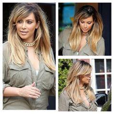 Kim K lighter hair