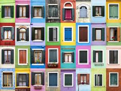 The colourful windows on the Venetian island of Burano, Italy, are just one of many locations captured byAndré Gonçalves