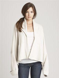 cashmere swing jacket