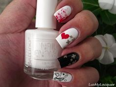 LuvMyLacquer: You Give Love A Bad Name (Anti-Valentine's Day Nails)