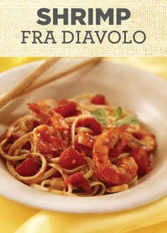 Succulent shrimp is simmered in a spicy tomato sauce and served over pasta to capture all the flavors in this Shrimp Fra Diavolo recipe! This is a perfect dinner for one, a couple's night or a large family get-together!