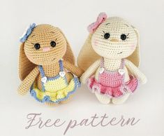Amigurumi bunnies free pattern