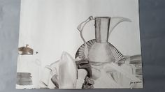 GRAPHITE TONAL STILL-LIFE DRAWING