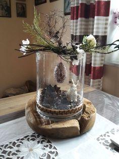 Teak wood bowl with glass insert & Holzfüchse GbR # Dekofrühling Teakh& Easter Crafts, Holiday Crafts, Holiday Decor, Deco Floral, Wood Bowls, Easter Wreaths, Door Wreaths, Flower Arrangements, Moss Wreath