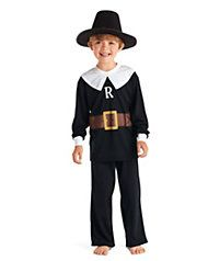 boys personalized pilgrim pj's