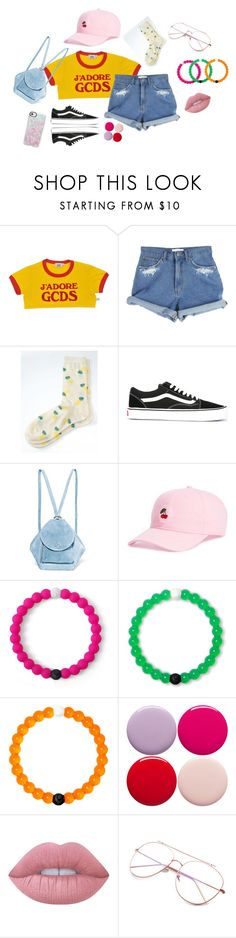 """""""Summer Vibes"""" by gisellejaffa ❤ liked on Polyvore featuring GCDS, Banana Republic, Vans, MANU Atelier, Body Rags, Lokai, Nails Inc., Lime Crime and Casetify"""