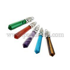 Creative Valentine Day Gifts Ideas Gemstone Big PendantsG-Q559-P-1