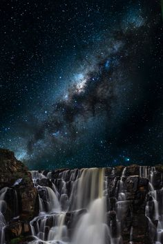 """photos-worth: """"Stellar Waterfall, by """" Explore what is invisible to the eye, from the microscopic world to the vastness of outer space. This photo was taken inside the Brazil, in a place. Beautiful Sky, Beautiful Landscapes, Beautiful World, Beautiful Pictures, Photo Trop Belle, Landscape Photography, Nature Photography, Night Photography, Landscape Photos"""