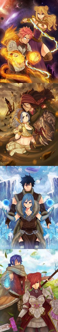 Guardians by blanania on DeviantArt Fairy Tail: fairy tail couples