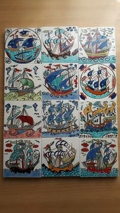 Turkish Pattern, Traditional Tile, Turkish Tiles, Nautical Art, Love Illustration, Tile Art, Painting Patterns, Clay Projects, Paint Designs