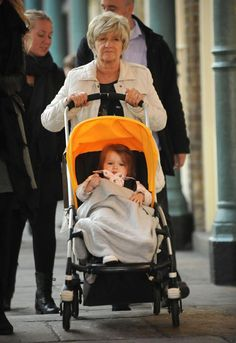 Harper Beckham & Grandma Are Out For A Stroll