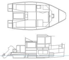 Cruising Shanty Trailerable Outboard Shanty Boat Small - Bolger micro trawler boats