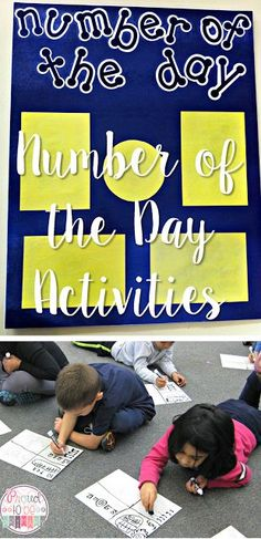 Proud to be Primary's Number of the Day Activities, including FREE templates.