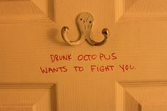 drunk octopus wants to fight you. I now think that whenever I see one of these hooks. Bazar Bizarre, Haha Funny, Funny Stuff, Funny Things, Funny Shit, Random Stuff, Random Things, That's Hilarious, Happy Things