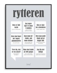 Sjov og personlig plakat til den selvironiske rytter